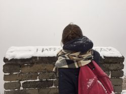 And it felt good to write some season greetings in the snow!